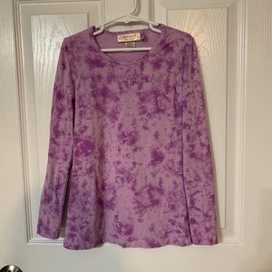 Girls Small Purple Tie-Dye Shirt